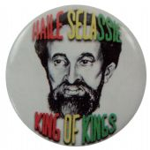 Haile Selassie - 'King of Kings' Button Badge